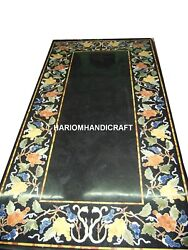 Dining Tops Marble Table Furniture Inlaid Decor And Free Serving Plate Collectible