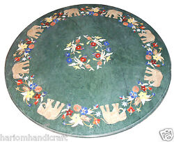 30 Marble Coffee Center Table Top And Free Beautiful Gift Jewelry Box Inlay Stone
