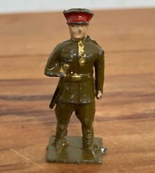 Rare Antique John Hill And Co Tommy Wwi Officer Lead Soldier Britains