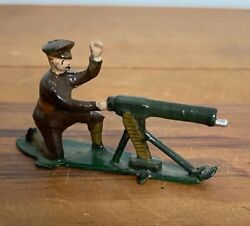 Antique John Hill And Co Wwi Machine Gunner Lead Soldiers Britains