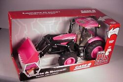 Ertl Ih Case Pink Tractor W/ Loader Big Farm Toy Mib New In Box Lights And Sound