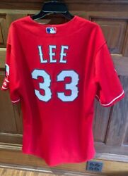 Cliff Lee Game Worn 2010 Alds + Alcs Jersey World Series Patch Rangers Pennant