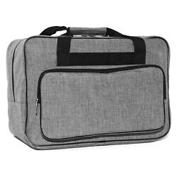 Sewing Machine Carrying Case 18.1 X 9.4 X 12.2 Travel Tote Bag Universal Grey