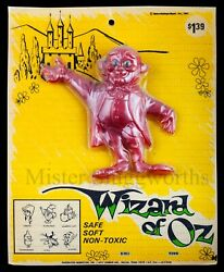New Vintage 1967 Wizard Of Oz Wizard Oily Jiggler Rubber Russ Berrie Moc Rare