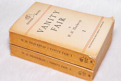 Vintage Collectible 2 Vanity Fair I And Ii By Wm Thackery Book Set Zephyr Books