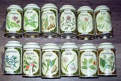 Vintage Spice Tins Wagnerand039s - Set Of 12 Tins - With Story On Back Of Each Can