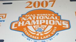 Tennessee Volunteers Lady Vols 2007 National Champs Metal License Plate