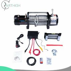 Electric Recovery Winch 12000lbs 24m Steel Cable Rope Truck Trailer 12v Offroad
