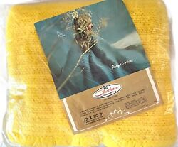 Vintage Waffle Blanket New Chatham Royal-aire Thermal 72 X 90 Sunny Yellow 1970s