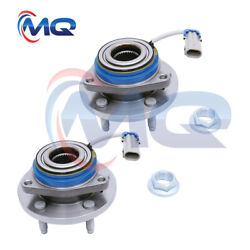 2front Wheel Hub Bearing And Nuts For Chevy Impala Cadillac Pontiac W/abs 513121m