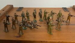 21 X Antique John Hill And Co And Britains Wwi British Tommy Lead Soldiers