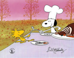 Peanuts Thanksgiving Limited Edition Of 150 Animation Cel Signed Melendez Mlc03