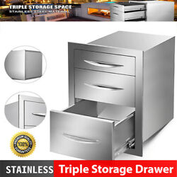 Multi-size Outdoor Kitchen Drawer Stainless Steel Triple Access Bbq Drawers 2021