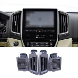 Fit For 2016-2021 Toyota Land Cruiser Black Central Console Air Outlet Vent Trim