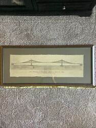 The Brooklyn Bridge By John A. Roebling Civil Engineer Architecture Drawing