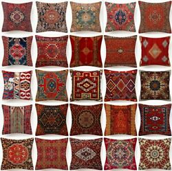 Throw PILLOW COVER DIGITAL PRINT Tapestry Kilim Decorative Cushion Case 18x18quot;