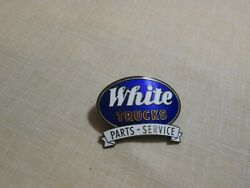 Rare And Original 1930's White Trucks Parts And Service Dept. - Hat Pin, Lapel Pin