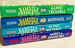 Hamster Princess Hardcover Books Volumes 1-4, Like New. Very Clean. Free Ship. C
