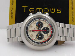 Tissot T12 Chronograph 40505 Oversize 42 Mm Steel Years And03970 Manual Menand039s Watch