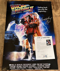 Michael J Fox Christopher Lloyd Signed Back To The Future 24x36 Poster Authentic