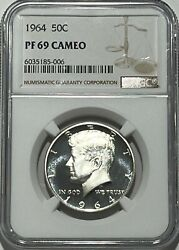1964 Ngc Pf69 Cameo Proof Silver Kennedy First Year Of Issue Half Jfk Coin Sign