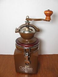 Huesnbrews Hues N Brews Mocha Brown Cast Iron Coffee Grinder Mill Canister-nice