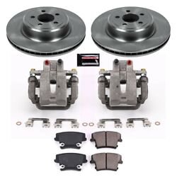 Kcoe5486 Powerstop Brake Disc And Caliper Kits 2-wheel Set Rear For Charger