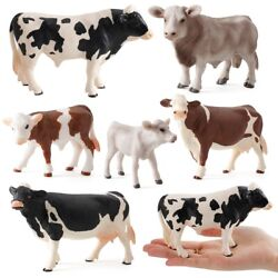 Toy Miniatures Cows Simulated Animal Figurines Cow Action Figure Plastic Models