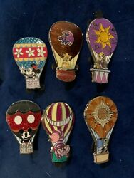 Disney Pins - Hot Air Balloon Adventure Is Out There - Set Of 6 Pins