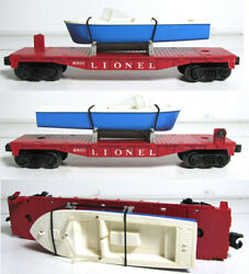 Lionel 6801-75 6801 Flat Car With Blue Boat
