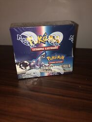 Pokemon Diamond And Pearl Factory Sealed Booster Box Portuguese Fast Shipping
