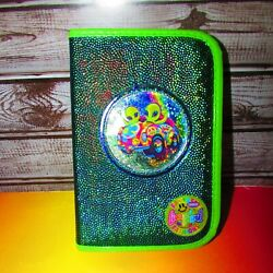 Vtg Lisa Frank Zoomer And Zorbit Zippered Small Planner Filled W/various Lf Items