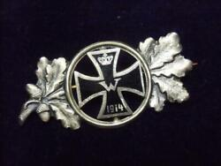 W Imperial German Army / Kingdom Of Prussia Gold/ Silver Iron Cross Medal Brooch