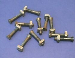 10 Vintage Bay State Plain Tire Bolts And Nuts 1/4-20 X 1 1/2 American Screw Co