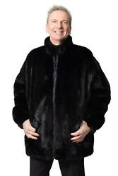 Reversible Mink Fur To Leather Jacket- Size 46-48