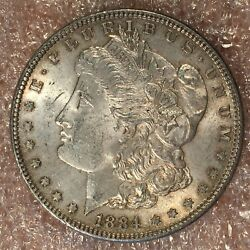 1884 Morgan Silver Dollar - Nearly Uncirculated - High Quality Scans H540