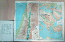 Murrayand039s Handy Classical Maps. Palestine Old And New Testaments. Circa 1900