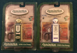 Nip Remington Die Cast Metal 1950's Blue And Green Style Gas Pumps Gear Box Toys
