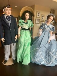 """Franklin Mint Heirloom Dolls Gone With The Wind"""" Rhett And Scarlette"""