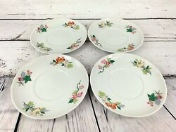 Vista Alegre Lots Of Pink Red White Flower 6.5 Imch Plates Made In Portugal