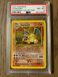 Psa 8 - Pokemon Charizard - Legendary Collection Holo Foil - 3/110