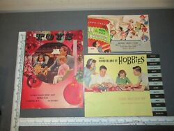 Vintage 50's 60's Christmas Toy Catalogs Lionel Tonka Hubley Model Amt