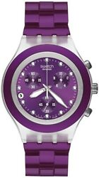 Swatch Full Blooded Blueberry Unisex Watch Svck4048ag Brand New W/ Tagand039s