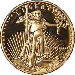 1987-w Gold American Eagle 50 Ngc Pf70 Ultra Cameo Brown Label