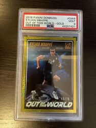 2018 Panini Donruss Kylian Mbappe Out Of This World Gold/75 Psa 9 Pop 1 49257421