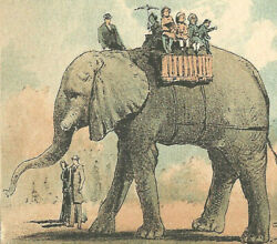 1893 Youngandrsquos Birthday Cards And Souvenirs-broadway-new York Ny-elephant-children