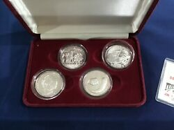 1986 Rarities Mint Comet Haley Series Silver Medal Set Of 4 Proofs E7821