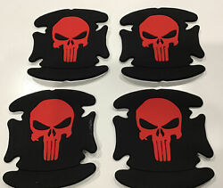 """The Punisher Collectible Rubber Stickers Lot Of 4 Identical 3""""x3.5"""" New Free Sh"""