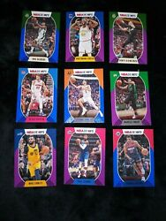 2020+21 Nba Hoops Insert Lot 14 Cards Total Parallels And More....