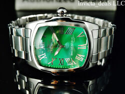 Menand039s 47mm Grand Lupah Green Dial Silver Tone Special Edition Ss Watch